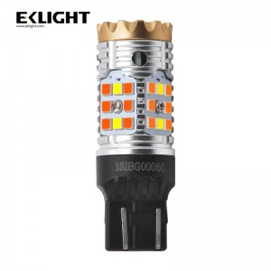 Eklight Canbus Error free 3157 1157 7443 amber/white dual color switchback led light Amber turn signal light