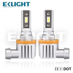 EKlight CE/Emark/DOT V12 Led headlight H8 H9 H11 H16 Auto lighting bulbs