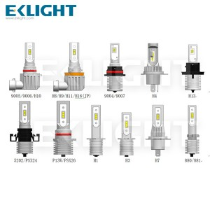 Eklight V12 H4 HB2 9003 high low beam Led Headlight 6000k