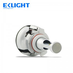 EKlight V9 H4 fan led headlight Perfect High/Low Beam Pattern