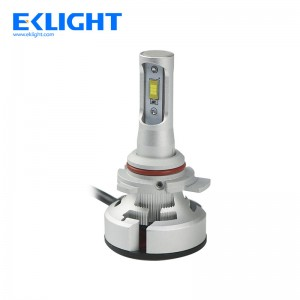 EKlight V9 9006 HB4 fan led headlight same Halogen bulb size
