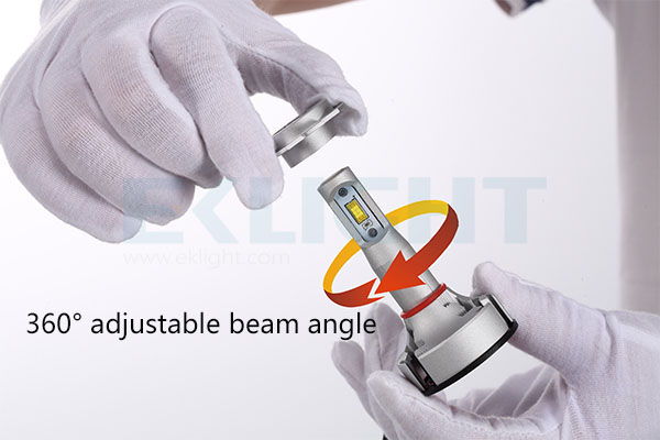 V9 led headlight adjust beam angle