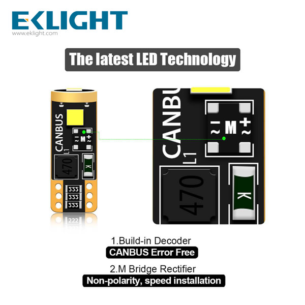 EKLIGHT Canbus T10-3SMD-3030 100% Error free Featured Image