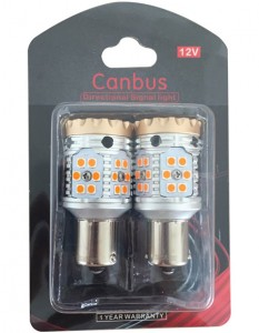 1156 ba15s Canbus error free  LED high power amber car reverse backup Tail Light